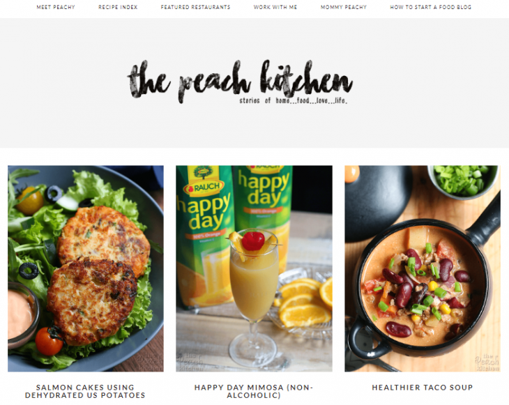Savor these top food blogs by women modernfilipina the peach kitchen is a wonderful and rich repository of recipes it has a lengthy recipe index that covers everything from breakfast food to salads to forumfinder Choice Image